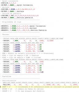 Ejemplo de código APDL